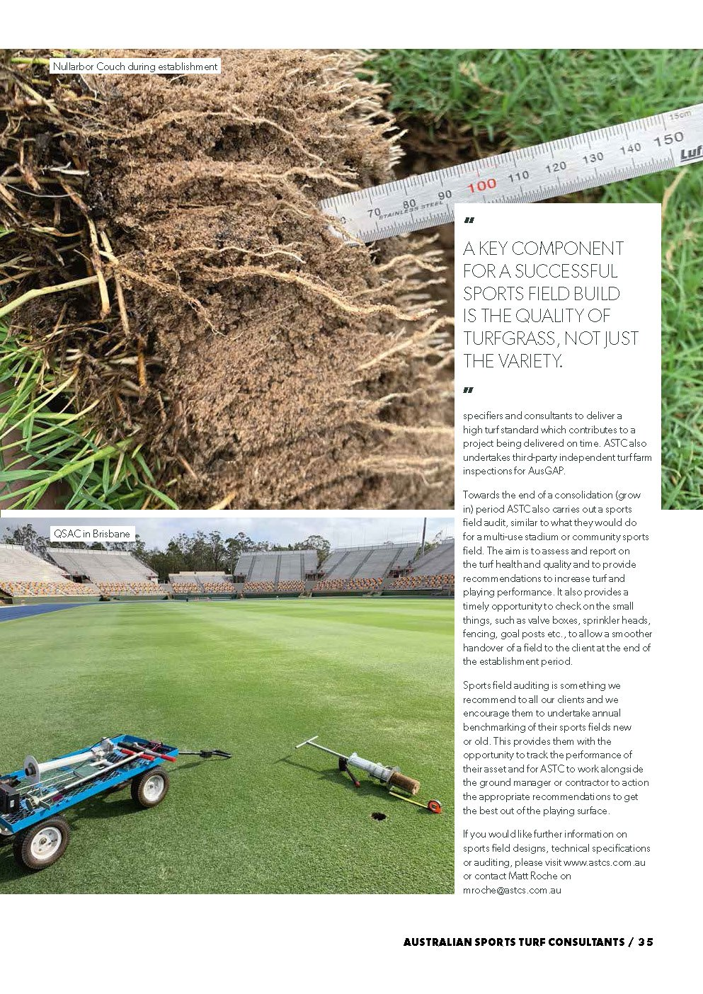 Sports Turf Specifications -